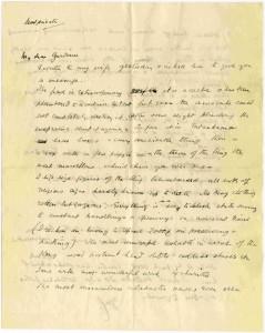 Letter from Carnavon to Gardiner